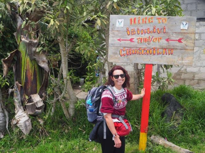 Comienzo del Quilotoa Loop