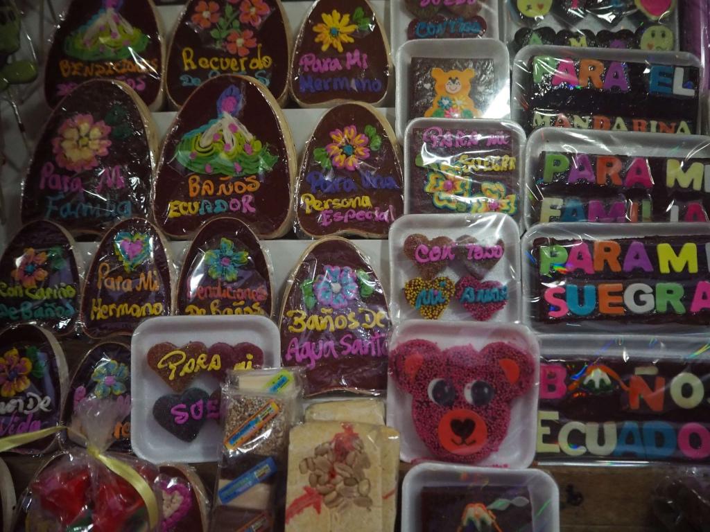 Puesto de dulces, qué hacer en Baños