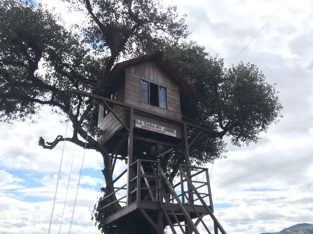 La casa del árbol y columpio fin del mundo, Baños Ecuador
